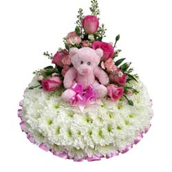 Funeral Posy Pad Baby Girl