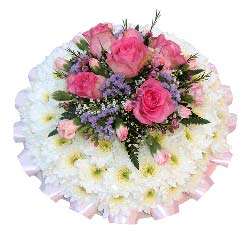 Funeral Posy Pad Pink & Mauve