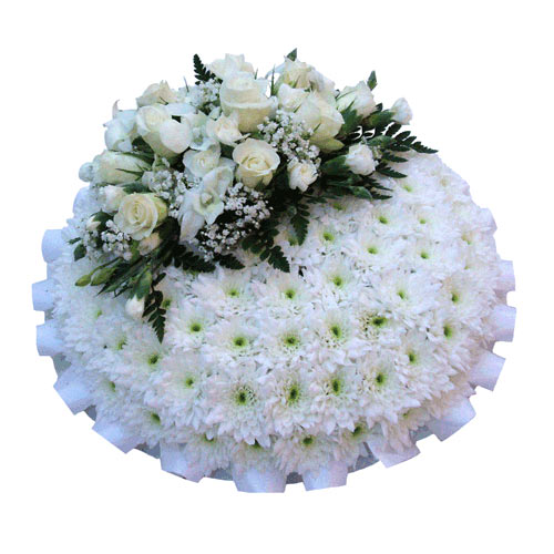 Funeral Flowers Funeral Posy Pad Pure White