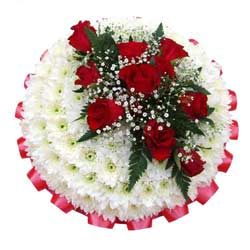 Funeral Posy Pad Red Roses