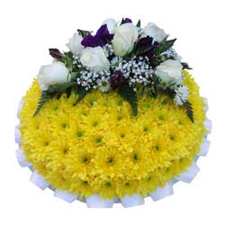 Funeral Posy Pad Yellow Base