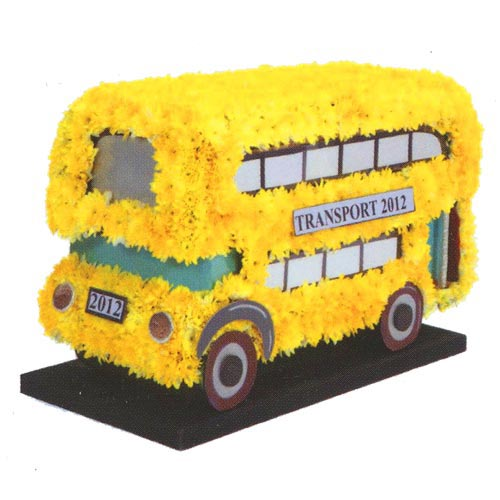 Funeral Flowers Speciality 3D Bus Tribute