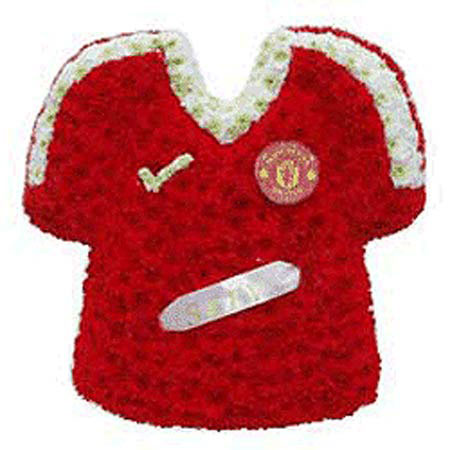 Funeral Flowers Manchester United Football Shirt