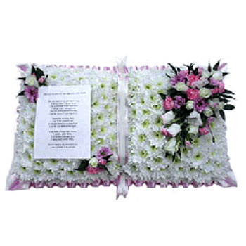 Funeral Flowers Speciality Prayer Book Tribute
