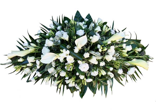 Funeral Flowers White Arum Lily Spray