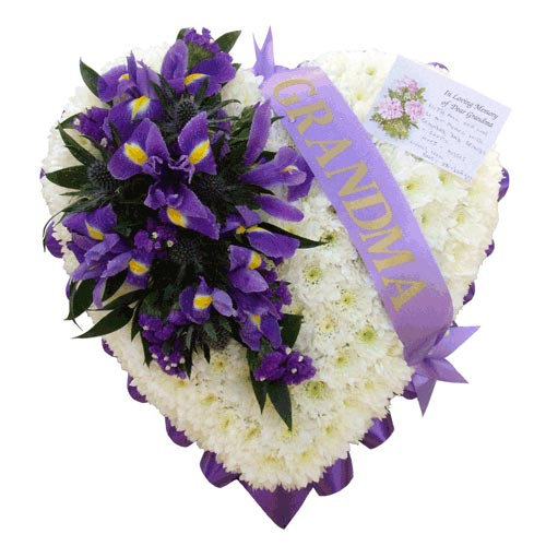 Funeral Flowers Iris Funeral Heart Tribute
