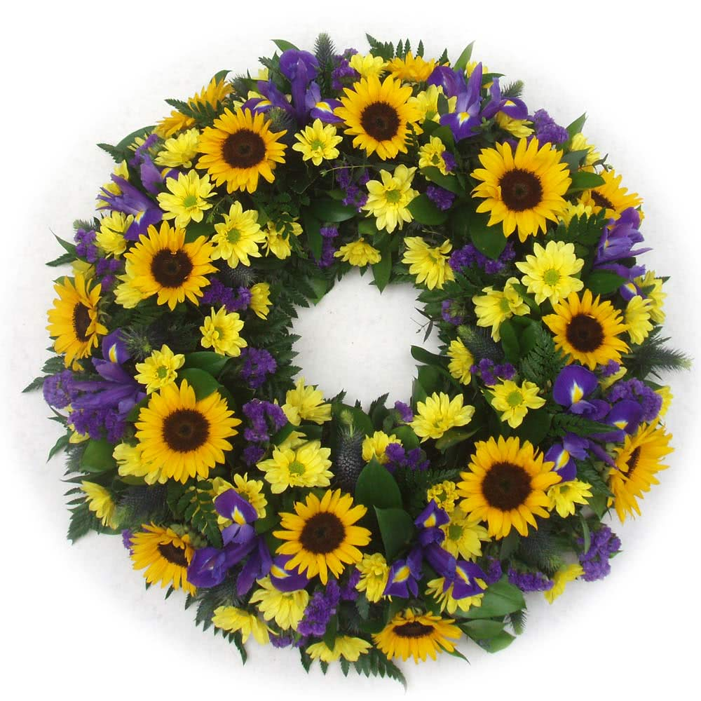 Funeral Flowers Sunflower Funeral Wreath Ring