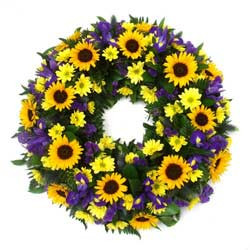 Sunflower Funeral Wreath Ring