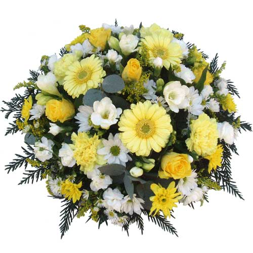 Funeral Flowers Shades of Yellow Baby Tribute