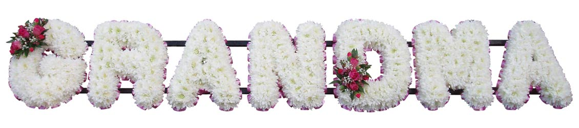 Funeral GRANDMA Flower Tribute