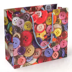 Buttons Large Gift Bag