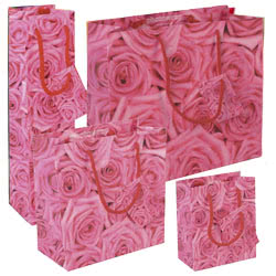 Pink Roses Gift Bags