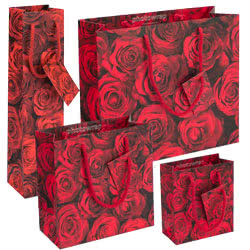 red roses gift bags
