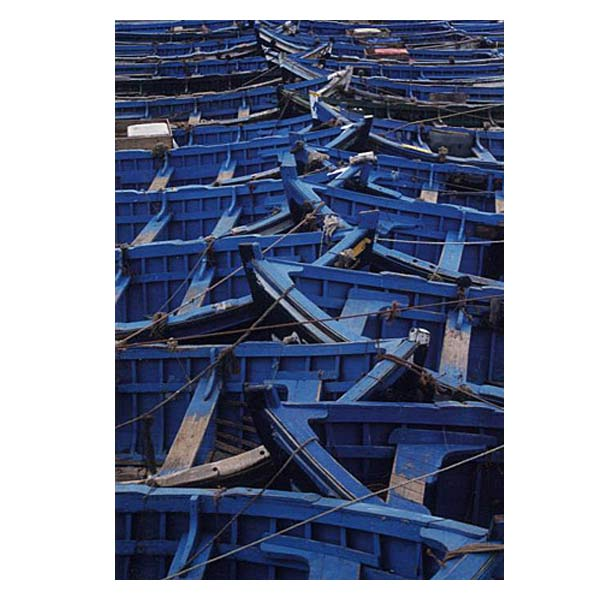 PhotowrapBlue Boats Greeting Card