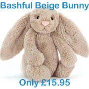 Jellycat's all time best selling Bashful Beige Bunny