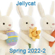 Jellycat new soft toy designs for Spring 2022 including Birgitte Rabbit, Fun-Guys and Amuseable Hearts with UK and USA delivery