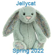 Jellycat new soft toy designs for Spring 2022 including new Bashful bunnies with UK and USA delivery
