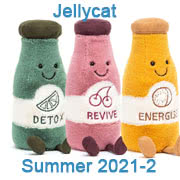 Jellycat new soft toy designs for Summer 2021 including Maple Moose and Pongo Orangutan