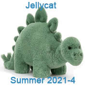 Jellycat New Soft Toys Summer 2021 including Fossilly Stegasaurus