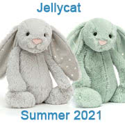 Jellycat new soft toy designs for Summer 2021 with UK and USA delivery
