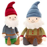Jellycat Gnomes including Jolly Gnome Joe and Jim