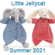 Jellycat Summer 2021 new baby toys including Lingley Soothers and Baby Toys