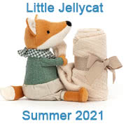 Jellycat Summer 2021 new baby toys including Little Rambler Soothers and Jitters
