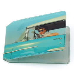 Blue Car Girl Card Holder