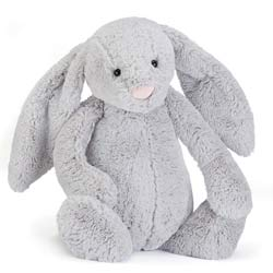 Bashful Silver Bunny Really Big
