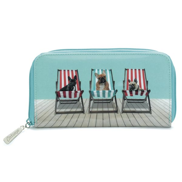 Catseye Deckchair Dogs Zip Wallet