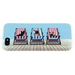Deckchair Dogs iPhone 5 Shell