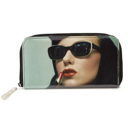Lipstick Woman Zip Wallet