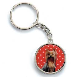 Polka Dot Dog Keyring
