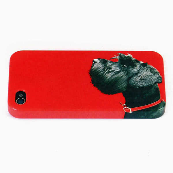 CatseyeTerrier on Red iPhone Shell