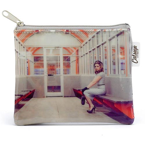 Catseye Waiting Room Girl Zip Purse