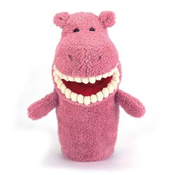 Toothy Hippo Hand Puppet