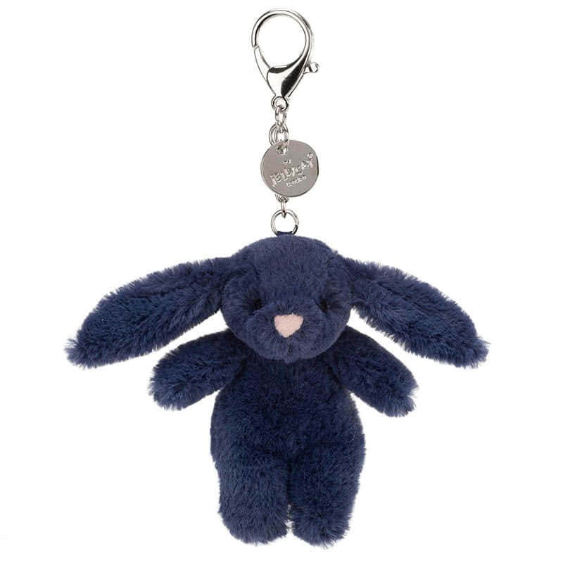Jellycat Bashful Navy Bunny Bag Charm