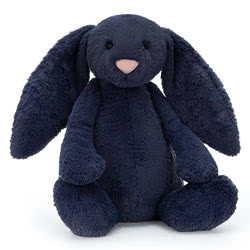 Bashful Navy Bunny Huge