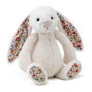 Bashful Blossom Cream Bunny