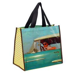 Blue Car Girl Shopper