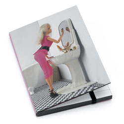 Doll in Bathroom A6 Notebook