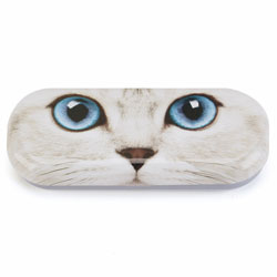 Silver Kitty Glasses Case