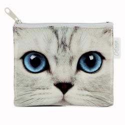Silver Kitty Purse