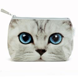 Silver Kitty Small Bag
