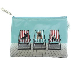 Deckchair Dogs Flat Bag