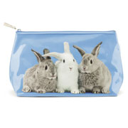 Rabbits on Blue Wash Bag