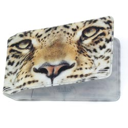 Leopard Travel Card Holder