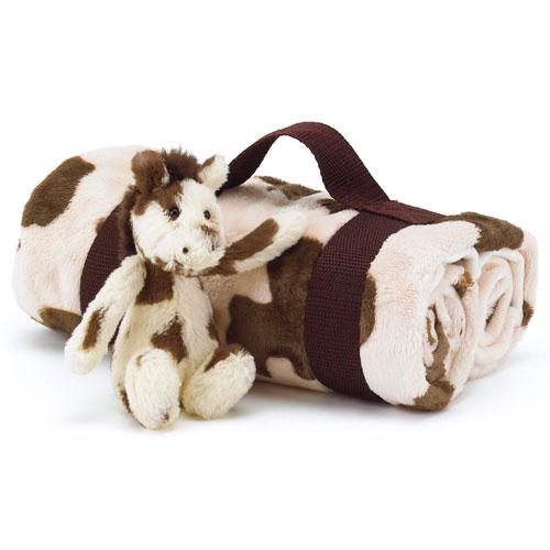 Little Jellycat Bashful Pony And Blanket Set 163 29 95