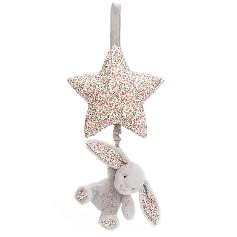 Little Jellycat Blossom Silver Bunny Musical