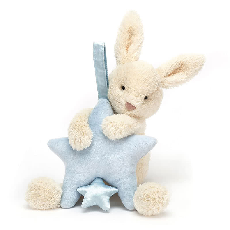 Little Jellycat Star Bunny Blue Musical Pull